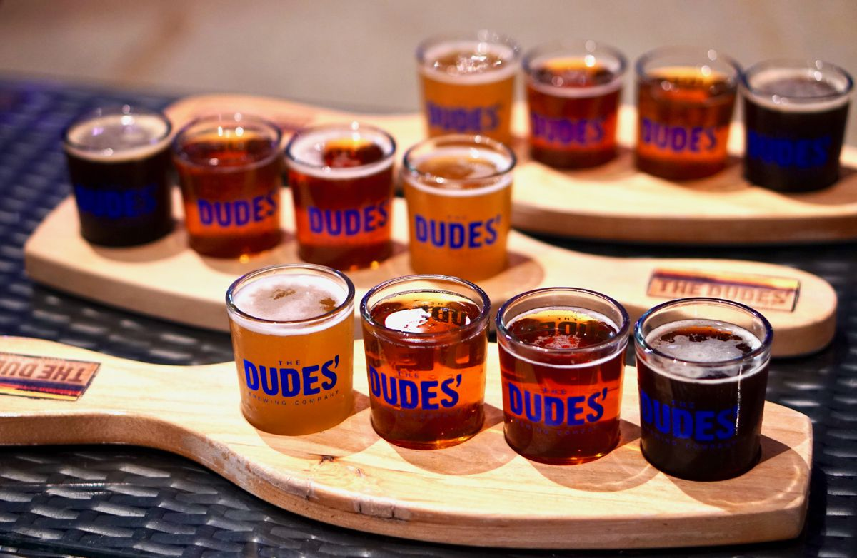 Fall beers at The Dudes Brewing Co. Photo by The Foodie Biz