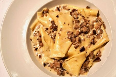 Mushroom pappardelle at Celestino by The Foodie Biz
